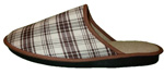 Mules Hommes Ecossais ISLAY Marron