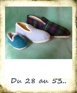 Chaussons made in france enfants grandes pointures